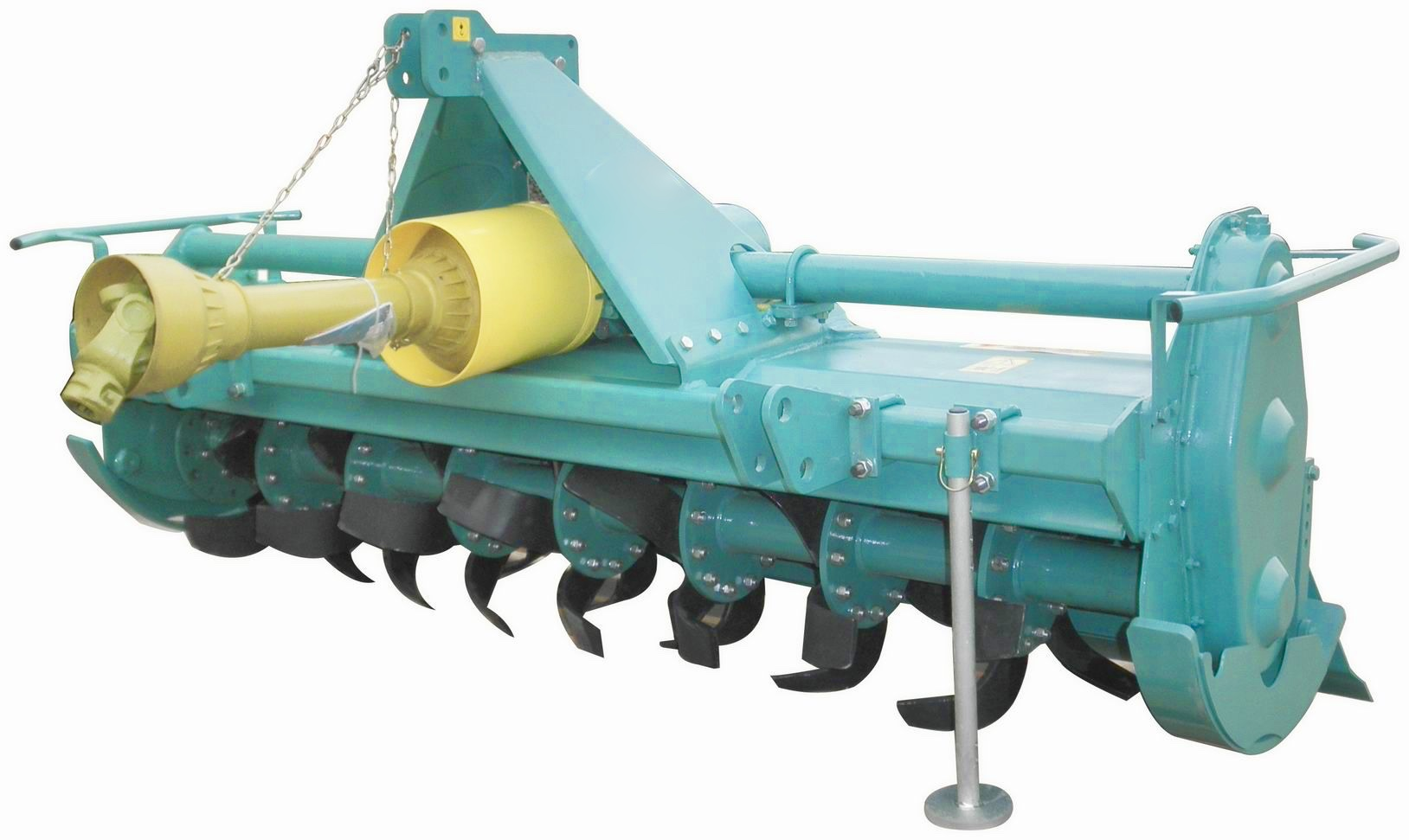 Safety operation of tractor rotary tiller.